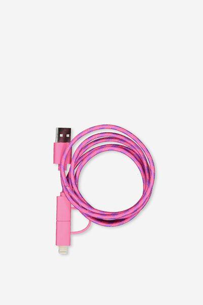 Phone Charging Cord, PINK_PURPLE