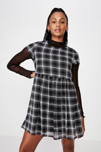 Babydoll Dress, GWEN CHECK
