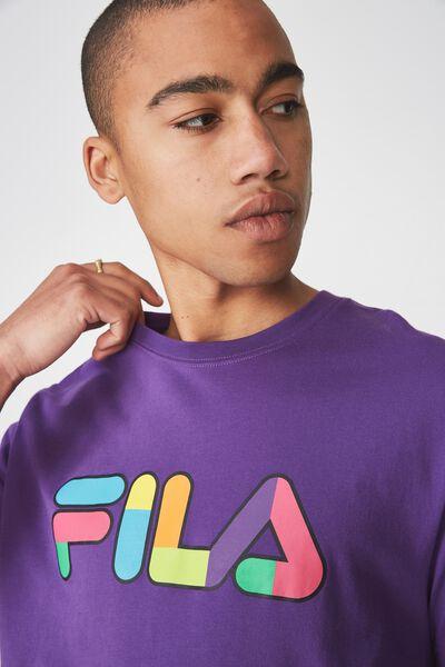Fila Lcn Logo T Shirt, PURPLE