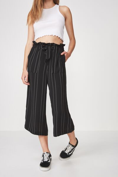 Paperbag Pant, BLACK STRIPE