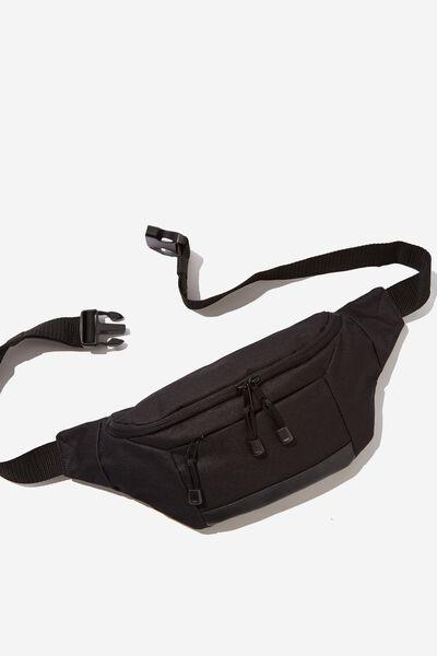 Square Sling Bag, BLACK