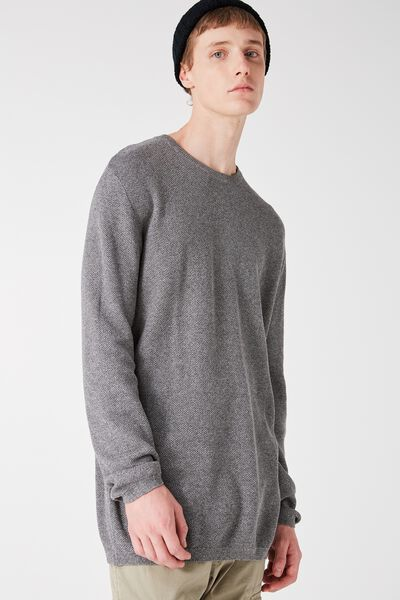 Mixed Crew Knit, PEPPER MARLE HC