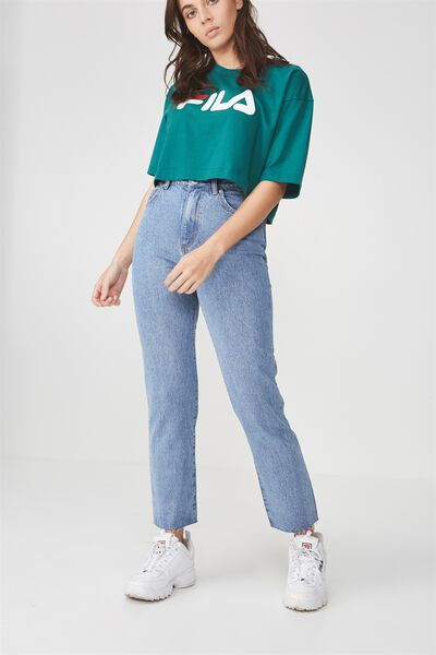 High Waist Straight Leg Jean, VINTAGE BLUE