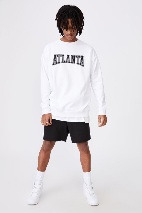 Elite Oversized Crew, WHITE/ATLANTA