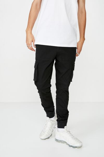 Combat Cuffed Pant, WASHED BLACK