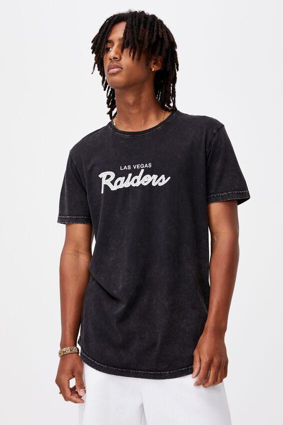 Curved Nfl T Shirt, LCN NFL WASHED BLACK/RAIDERS