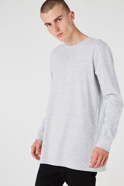 Ls Tall Tee, LIGHT GREY MARLE
