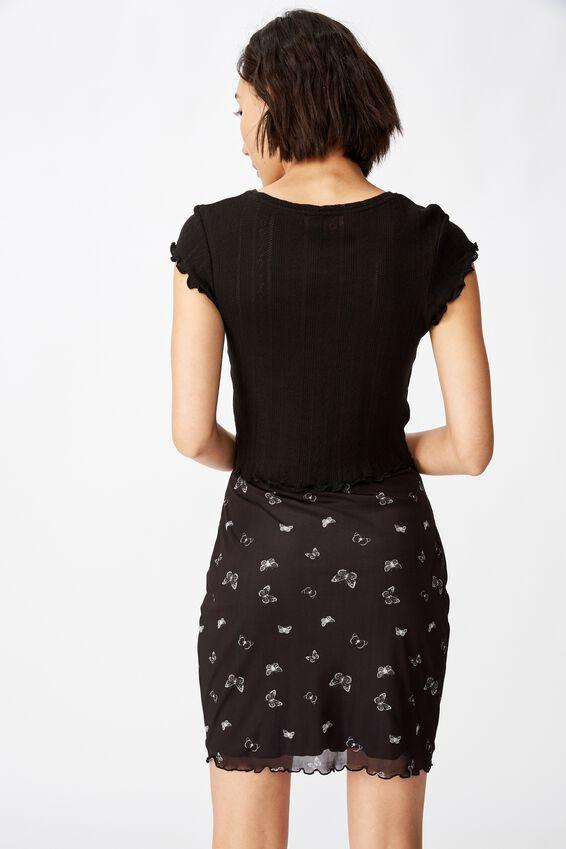Mesh Skirt, BLACK_GOTHIC BUTTERFLY