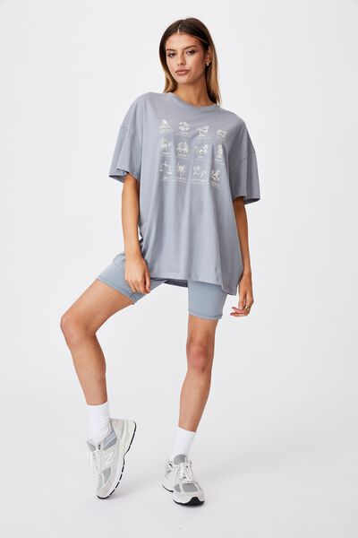 Super Relaxed Graphic Tee, FOG GREY/ZODIAC SIGNS