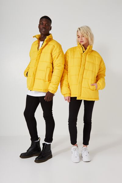 Arbour Puffer Jacket, YELLOW
