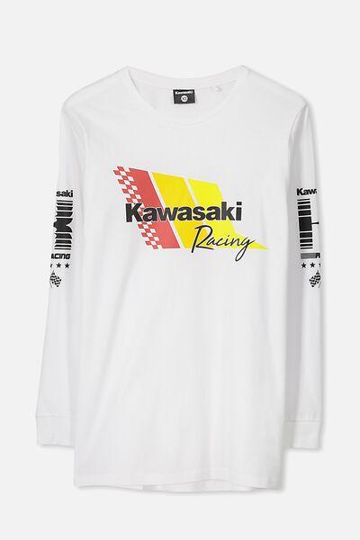 Ls Amped Licensed Tee, WHITE/KAWASAKI RACING