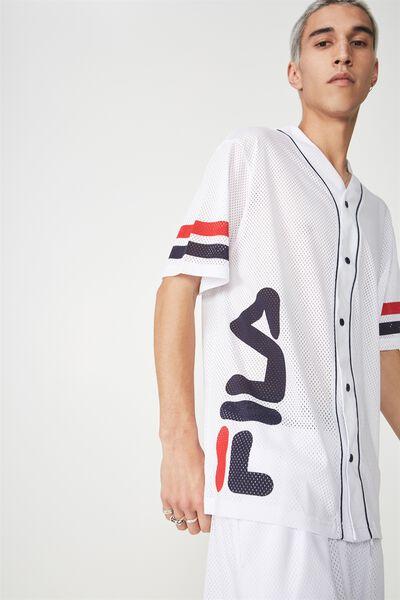 Fila Lcn Baseball Mesh T Shirt, WHITE