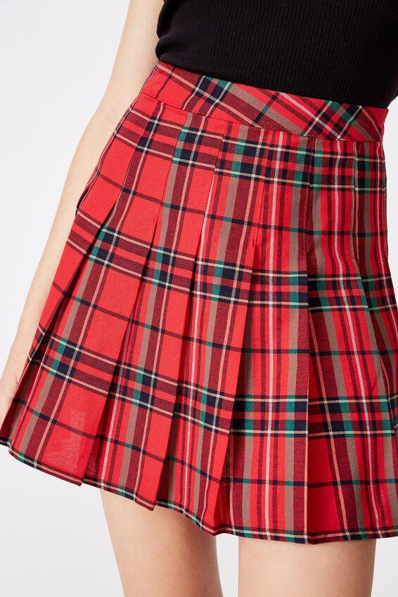 Pleated Skirt, TRADITIONAL TARTAN