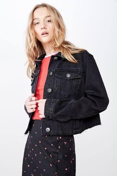 Classic Denim Jacket 2, THRIFT BLACK