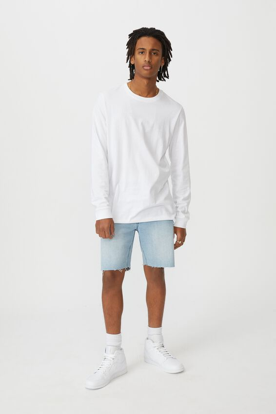 Denim Cut Off Short, ICE BLUE