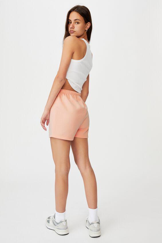 Super Slim Fitted Fleece Short, VINTAGE SEASHELL