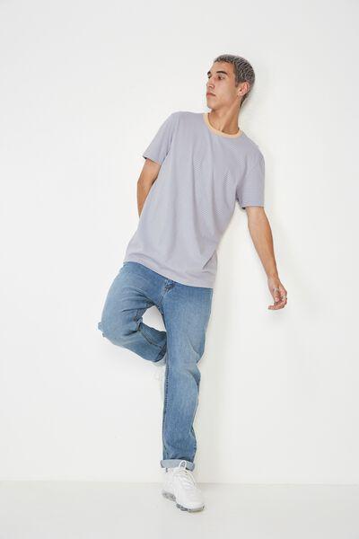 Slim Stripe T Shirt, BLUE/HAZELNUT STRIPE