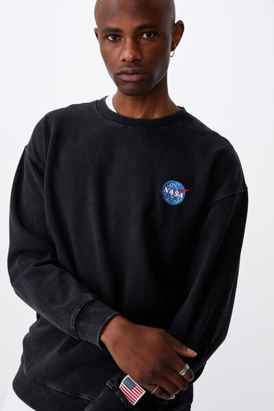 Elevated License Crew, LCN NAS WASHED BLACK/NASA MEAT BALL