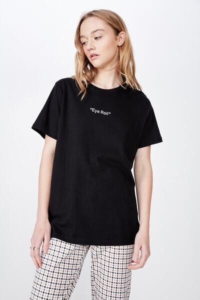 eb1477136859 Relaxed Graphic T Shirt, BLACK/EYE ROLL