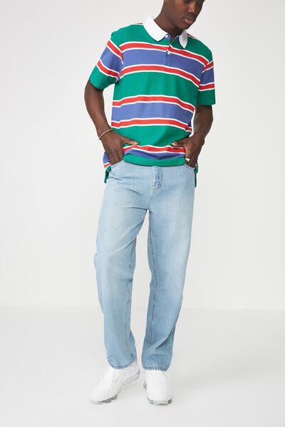 Straight Leg Denim Jean, PALE BLUE