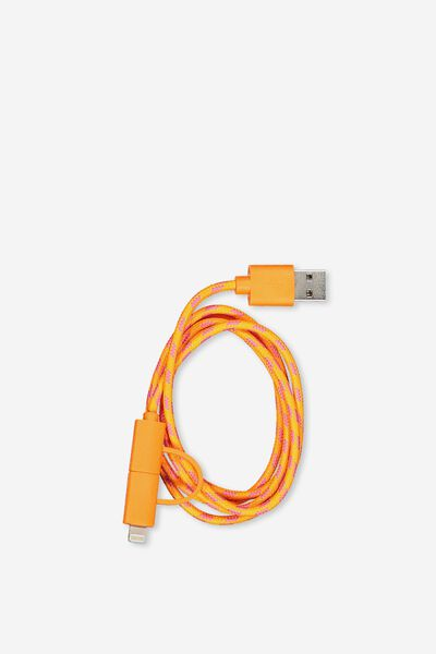 Phone Charging Cord, ORANGE_PINK