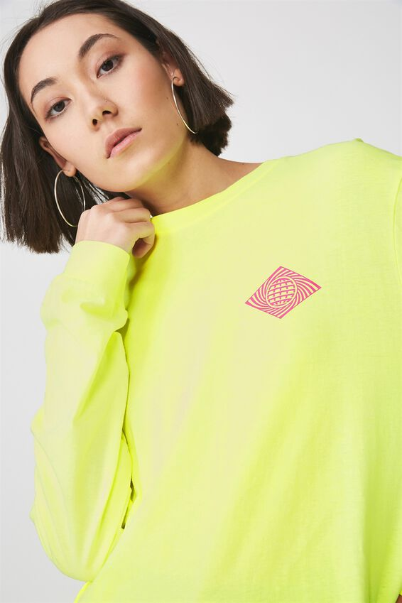 Graphic Long Sleeve, HAZARD YELLOW_PLS STAND BY
