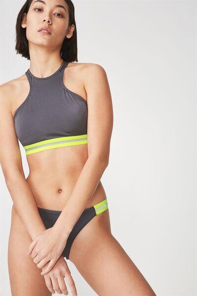 Racer Bikini Top, SHINY TITANIUM