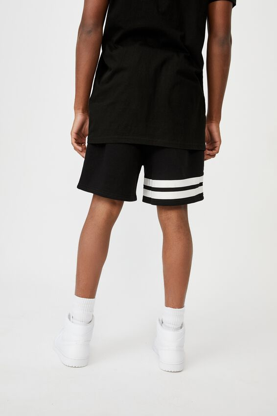 Fila Lcn Fleece Short, BLACK/COLLEGIATE