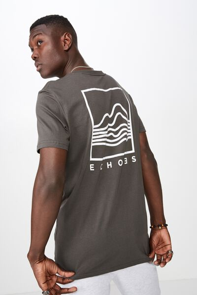 Slim Graphic T Shirt, GRAPHITE/ECHOES