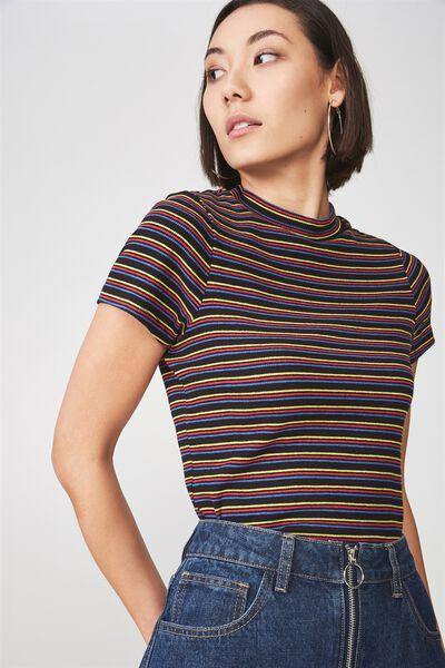 Short Sleeve Ribbed Tshirt, DAYDREAM_STRIPE