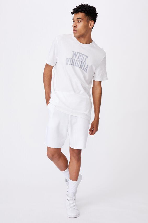 Regular Graphic T Shirt, WHITE/WEST VIRGINIA