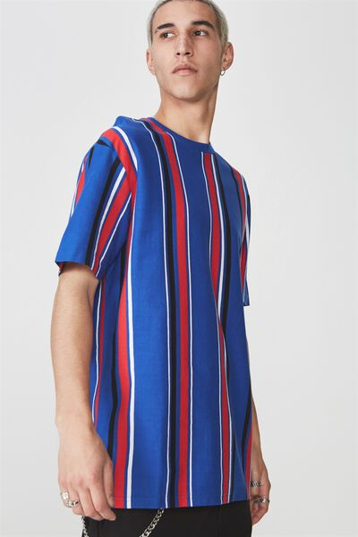 Ss Vertical Stripe T Shirt, FRENCH BLUE/MULTI STRIPE