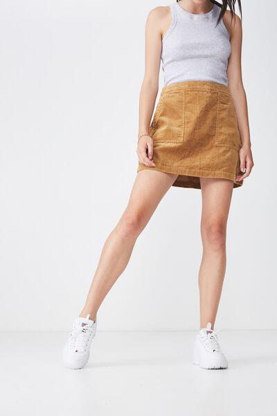 Cord Skirt, MUSTARD