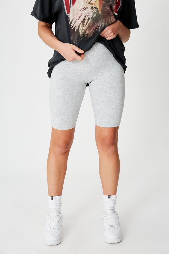 Basic Bike Short, GREY MARLE