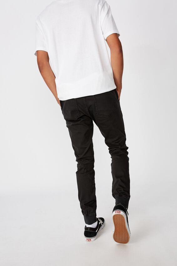 Semi Cuffed Pant, WASHED BLACK
