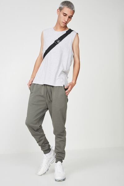 Basic Track Pant, KHAKI