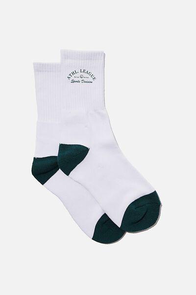 Retro Sport Sock, WHITE/ATH. LEAGUE