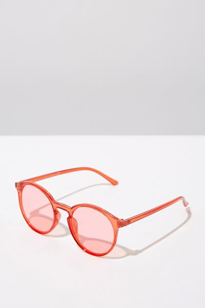 Round Reese  Sunnies, CRY RED_RED TINT
