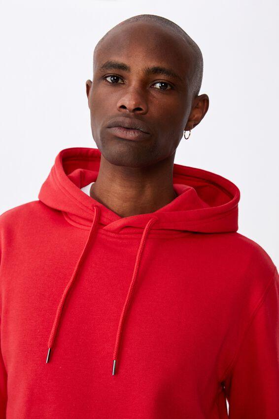 Basic Hoodie, RED SMOKE