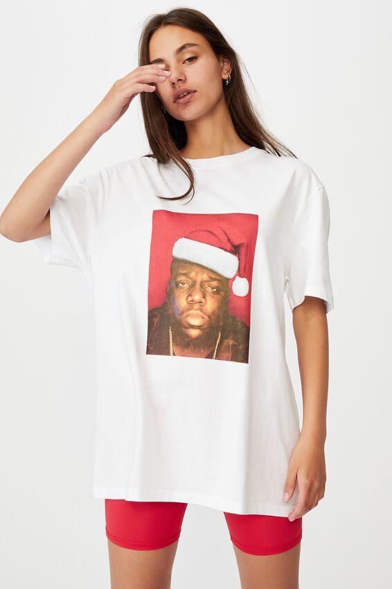 Regular License T Shirt, LCN MT WHITE/BIGGIE XMAS