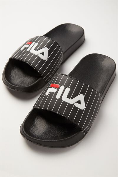 Fila Lcn Pinstripe Slide, BLACK