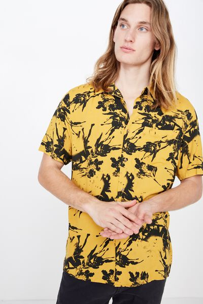 Resort Shirt, CHEDDAR INK