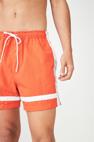 Swim Short 2, RED/WHITE PANEL