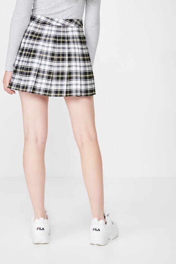 Pleated Skirt, SUBRINA CHECK