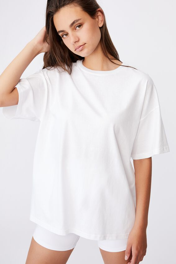 Super Relaxed Basic Tee, WHITE