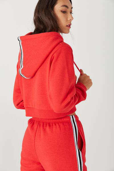 Travis Taped Hoodie, BOLD RED