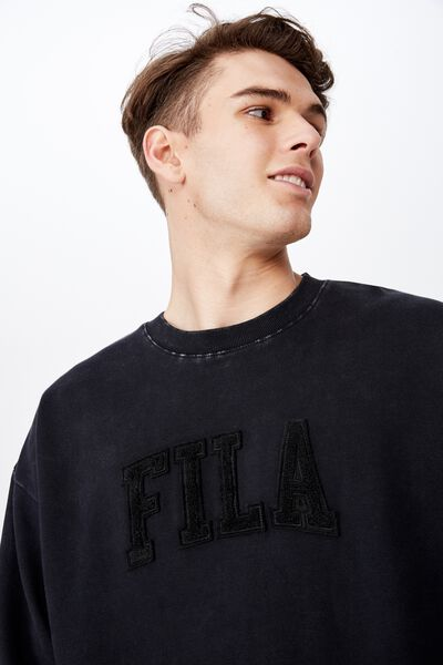 Fila Lcn Oversized Crew, WASHED BLACK