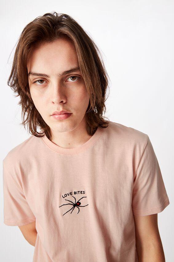 Slim Graphic T Shirt, STRAWBERRY CREAM/LOVE BITES