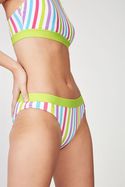 Full Bikini Bottom With Tape, STRIPE