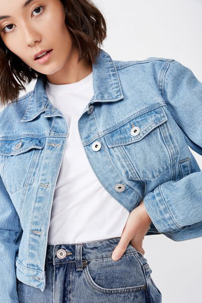Classic Denim Jacket, THRIFT BLUE